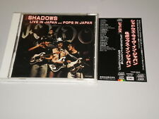 THE SHADOWS - LIVE IN JAPAN AND POPS IN JAPAN - RARE ORIG 1st JAPAN PRESS W/OBI