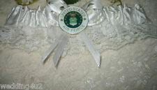 Wedding Ceremony Reception Party US Air Force Military Satin & Lace Garter White