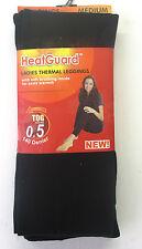 Ladies Heatguard Thermal Leggings 140 Denier The Style - Sk134 Black Small Standard