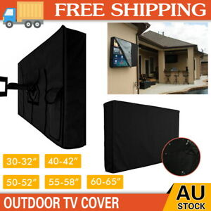 "30""-65"" TV Cover Dustproof Waterproof Outdoor Patio Television Protector Black"