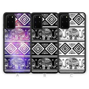 Elephant Henna Aztec Animal Phone Case for Samsung Galaxy S20 Plus Ultra S10 S9