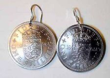 Coin earrings~Old British English Arms earrings-handmade in the USA