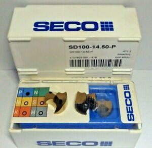 2 x SECO Bohrkronen Wechselplatten SD100-14.50-P  ***NEW***