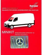 HERPA MiniKit 1:87 PKW Mercedes-Benz Sprinter 18 Kasten Hochdach Bausatz #013475