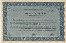 Out-O'Bounds Inc > Delaware old stock certificate share