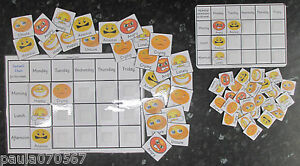 Promote good behaviour pecs~School Emotions charts, A4 or A5 with 29 pec cards