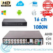 GRABADOR DVR 16 CH CCTV AHD CVI TVI TRIBRIDO 1080N 720p HD H264 P2P