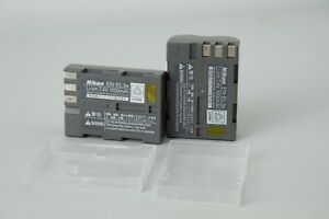 Two Nikon EN- EL3e Li-ion Camera batteries, D70s, D80, D90, D100, D200,D300,D700