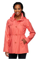Dennis Basso Water Resistant Floral Lined Anorak Jacket with Hood, Size S , $74
