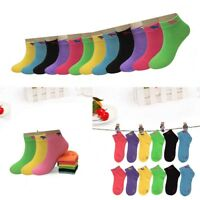 New 6-12 Pairs Child Girls Kids Multi Color Ankle Low Cut Socks Cotton Size 6-8