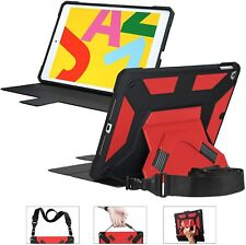 Miesherk iPad 7th Generation 10.2 Case with Pencil Holder Shoulder Strap...