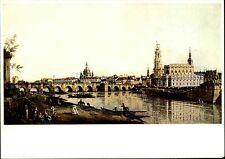 Dresden Sachsen DDR Postkarte Künstlerkarte Elbufer nach Canaletto (Künstler)