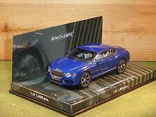 Minichamps 436 139982 Bentley Continental GT in Blue 1/43rd