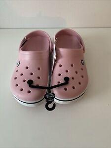 New Women's CROCS Crocband II Pink Shoes Clogs Size 9