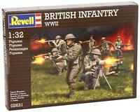REVELL 2631 WWII British Infantry 15 Tan Plastic Toy Soldiers 1/32 FREE SHIP