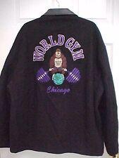 WORLD GYM CHICAGO Men Full Zip Stitch Gorilla Jacket XXL Tony Nowak Original USA