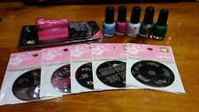 Create your own Konad Stamping Nail Art Stamping Kit-5 plates,5polish,stamp,scra