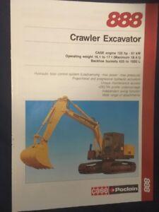 Case Poclain 888 Crawler Excavator Brochure