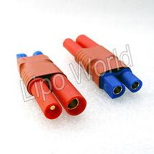 4mm HXT Stecker auf EC3 Buchse Hochvoltstecker Adapter Lade Kabel LiPo Akku
