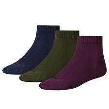 PUMA Sports Socks Mens Womens Ladies (3 Pair Multipack) Fashion Quarters UK 2-14