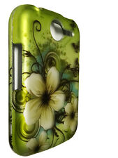 Green Flower Hard Faceplate Snap On Cover Phone Case for Pantech Renue P6030