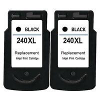 2x Black Ink Cartridges for Canon PG-240 XL PIXMA MG2120 MG3120 MG3122 MG3620