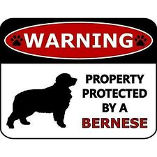 Warning Property Protected by A Bernese Dog Sign Sp259