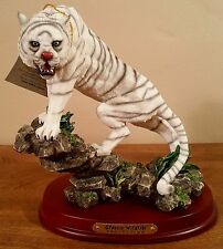 "7"" Tall Classic Wildlife Collection White Tiger Figurine Statue"