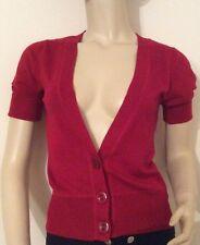Patternless Short Sleeve Cardigans for Women TU