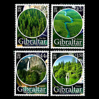 "Gibraltar 2011 - Europa Stamps ""Year of Forests"" Nature Plants - Sc 1274/7 MNH"