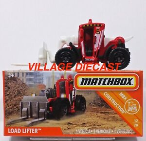 2019 Matchbox Power Grabs #38 Load Lifter™ MATTE RED / LOAD LIFTER UNIT 5 / MIB