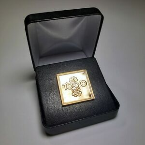 2020 Limited Ed. NBC Gold Olympic Pin Tokyo Olympics Media Badge 2021 - SOLD OUT