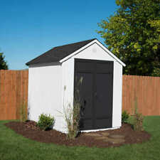 Magnolia 6' x 8' Wood Storage Shed, Floor Kit Included