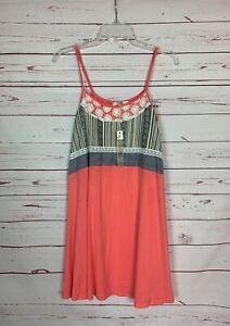 Ya Los Angeles Boutique Women's M Medium Coral Sleeveless Dress NEW TAGS NWT