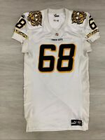 Hamilton Tiger Cats CFL Puma Game Worn Authentic Dave Hack White Jersey Size 48