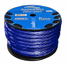 4 GAUGE AWG 20mm² BLUE CAR AUDIO POWER CABLE WIRING CADLING SOLD BY 1 METRE