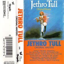 """JETHRO TULL """"ORIGINAL MASTERS"""" CASSETTE 1985 chrysalis"""