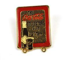 Vintage COCA COLA Collector Club Pin EST 1974
