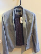 NWT Ladies KOOKAI  Jacket Size 4 cream and brown lined inside MSRP $2500