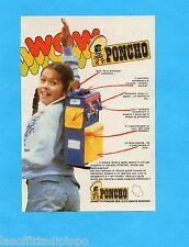 TOP986-PUBBLICITA'/ADVERTISING-1986- PONCHO - ZAINETTO PER LO STUDENTE