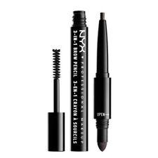 NYX Cosmetics 3-in1 Brow Pencil Black Brand New