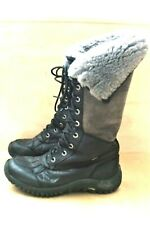 UGG AUSTRALIA ADIRONDACK TALL WATERPROOF Sheepskin BOOTS Sz 9 BLACK 1001786