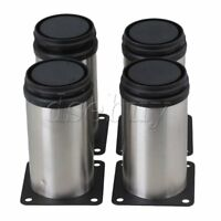 4 Pcs Stainless Steel Kitchen Adjustable Feet Round Furniture Leg