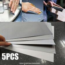 5x Feuille de papier abrasif pour poncer à l'eau 1000 à 2500 grain ponçage