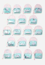 "Justice Backpack Mini Initial ""L� Color Changing Shaky Iridescent Pink New"