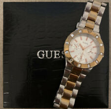 Guess Watch, Gold And Silver (Steel) With Crystal Bezel  Womens