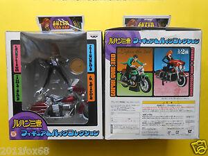 rare box fujiko & model bike figure margot fujiko mine red bike lupin III the 3d