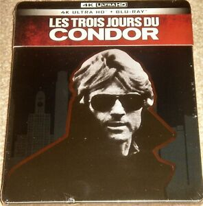 THREE DAYS OF THE CONDOR  4K ULTRAHD STEELBOOK/IMPORT/DOLBY VISION/WORLDWIDE P+P