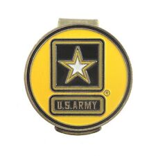 U.S. Army Hat Clip with Double Sided USA Golf Ball Marker