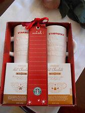 Starbucks Coffee 2010 Warm Wishes Christmas Holiday 2 Hot Chocolate Cup Mug Set